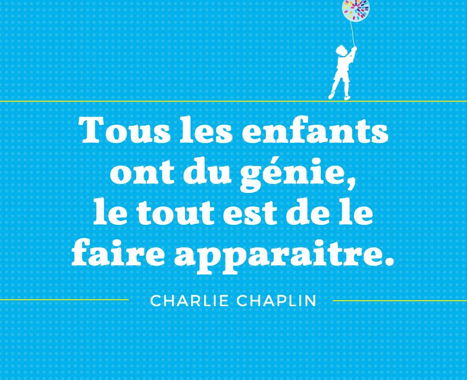 Citation Chaplin école La Trinité Sur Mer Les Crevettes